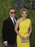 Tommy Mottola et Thalia Arrive chez Tony Awards 2015 Photo stock