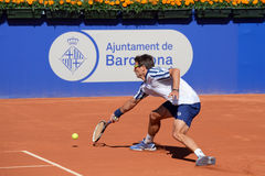 Tommy Robredo (Spanish tennis player) plays at the ATP Royalty Free Stock Photography