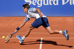 Tommy Robredo (Spanish tennis player) plays at the ATP Barcelona Stock Photo