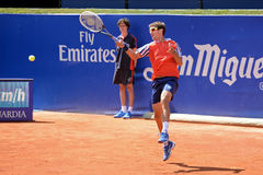 Tommy Robredo (Spanish tennis player) plays at the ATP Barcelona Royalty Free Stock Photos