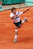 Tommy Robredo van Spanje in Roland Garros Royalty-vrije Stock Foto's
