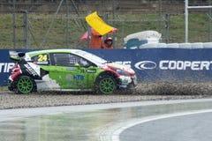 Tommy Rustad.  Barcelona FIA World Rallycross Royalty Free Stock Images