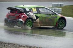 Tommy Rustad.  Barcelona FIA World Rallycross Championship Royalty Free Stock Photography