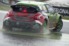 Tommy Rustad.  Barcelona FIA World Rallycross Championship Royalty Free Stock Image