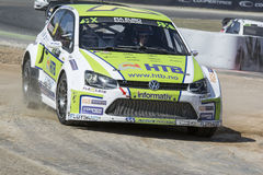 Tommy RUSTAD. Volkswagen Polo. Barcelona FIA World Rallycross Stock Photography