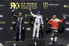 Tommy Rustad-winnaar Super Auto RX Stock Foto's