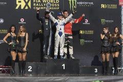 Tommy Rustad winner Super Car RX.  Barcelona FIA. World Rallycross Championship. Montmelo, Spain. September 19, 2015 Stock Photo