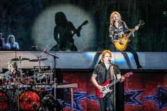 Tommy Shaw & James Young of STYX performing at California Concert Stock Photos