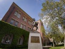 Tommy Trojan, sala di Bovard di USC immagini stock