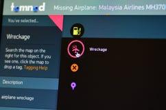 Tomnod, Malaysia Airlines lot 370 - Zdjęcia Stock