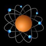 Átomo y electrones Fotos de archivo libres de regalías