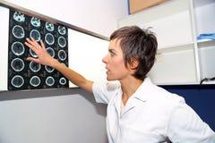 Tomodensitométrie de CT de l'endocranium, CT de tête Photos libres de droits