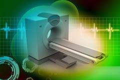Tomographie de scanner de CT illustration libre de droits