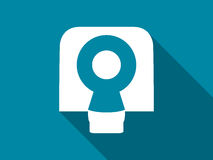 Tomography icon with long shadow. Magnetic resonance imaging. Vector Royalty Free Stock Image