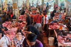Tomohon Traditionele Markt Stock Afbeelding
