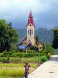 Tomok Christian Church, Lake Toba Sumatra Stock Photography
