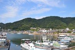 Tomonoura hamn Japan 2016 Royaltyfri Fotografi