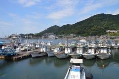 Tomonoura hamn Japan 2016 Royaltyfri Bild