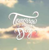 Tomorrow is another day vector Stock Images