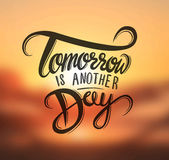 Tomorrow is another day vector Royalty Free Stock Images