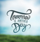 Tomorrow is another day vector Royalty Free Stock Photography