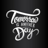 Tomorrow is another day vector Royalty Free Stock Photos