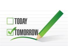 Tomorrow check mark illustration design Royalty Free Stock Images