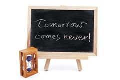 Tomorrow comes never Royalty Free Stock Photography