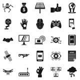 Tomorrow icons set, simple style Stock Photo