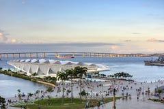 Tomorrow museum and Guanabara bay Stock Photos