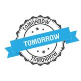 Tomorrow stamp illustration Royalty Free Stock Image