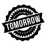 Tomorrow stamp rubber grunge Royalty Free Stock Photo