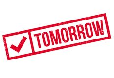 Tomorrow stamp rubber grunge Royalty Free Stock Photography