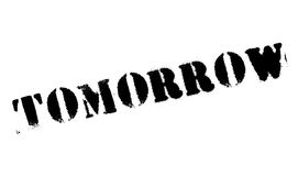 Tomorrow stamp rubber grunge Royalty Free Stock Image