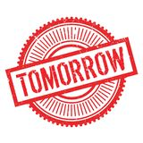 Tomorrow stamp rubber grunge Stock Photos