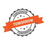 Tomorrow stamp illustration Stock Image