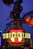 Tomorrowland sign at Disneyland, California Royalty Free Stock Photography