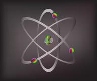 Átomos [convertidos] Foto de archivo