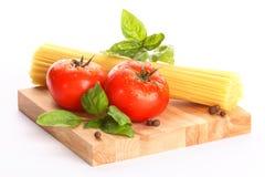 Tomotoes avec des spaghetti Photo libre de droits