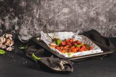 Tomotoes rôtis de cerise Image libre de droits