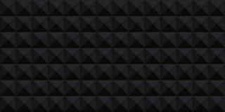Tomowa czarna realistyczna tekstura, sześciany, szarość 3d geometryczny wzór, projekta wektorowy ciemny tło ilustracji