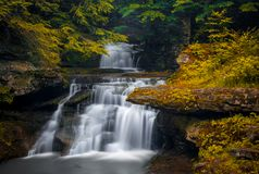 Tompkins waterfalls, catskill mountain. Tompkins waterfalls in the catskill mountain royalty free stock photo