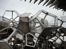 Tomás Saraceno on the Roof: Cloud City 9 Royalty Free Stock Photo