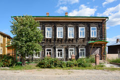 Tomsk, an ancient wooden house Royalty Free Stock Images