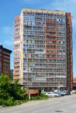 Tomsk, apartment building Royalty Free Stock Images