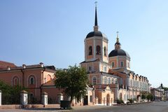 Tomsk, Bogoyavlensky Cathedral Stock Photos