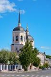 Tomsk, catedral de la epifanía imagen de archivo