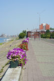 Tomsk, the embankment of the river Tom Royalty Free Stock Photography