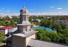 Tomsk hölzerner Kremlin und Ansicht über Tomsk, Russland Lizenzfreies Stockfoto