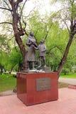 tomsk Monumento a las mujeres y a los adolescentes Imágenes de archivo libres de regalías